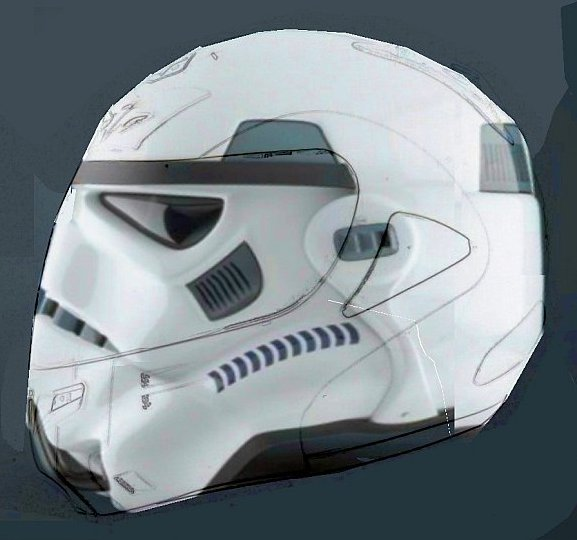 Stormtrooper Motorbike Helmet Thomas Tilley - Vinyl wrap for motorcycle helmets